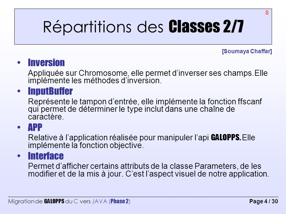 Répartitions des Classes 2/7