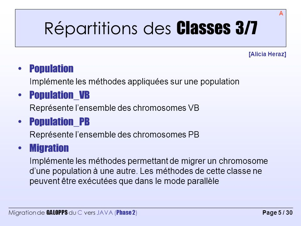 Répartitions des Classes 3/7