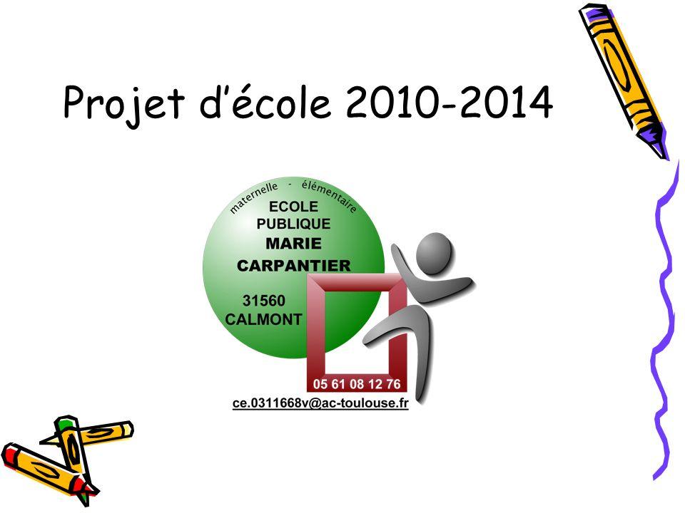 Projet d'école 2010-2014