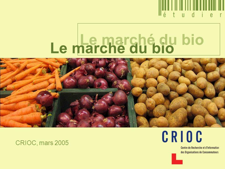 Le marché du bio Le marché du bio CRIOC, mars 2005