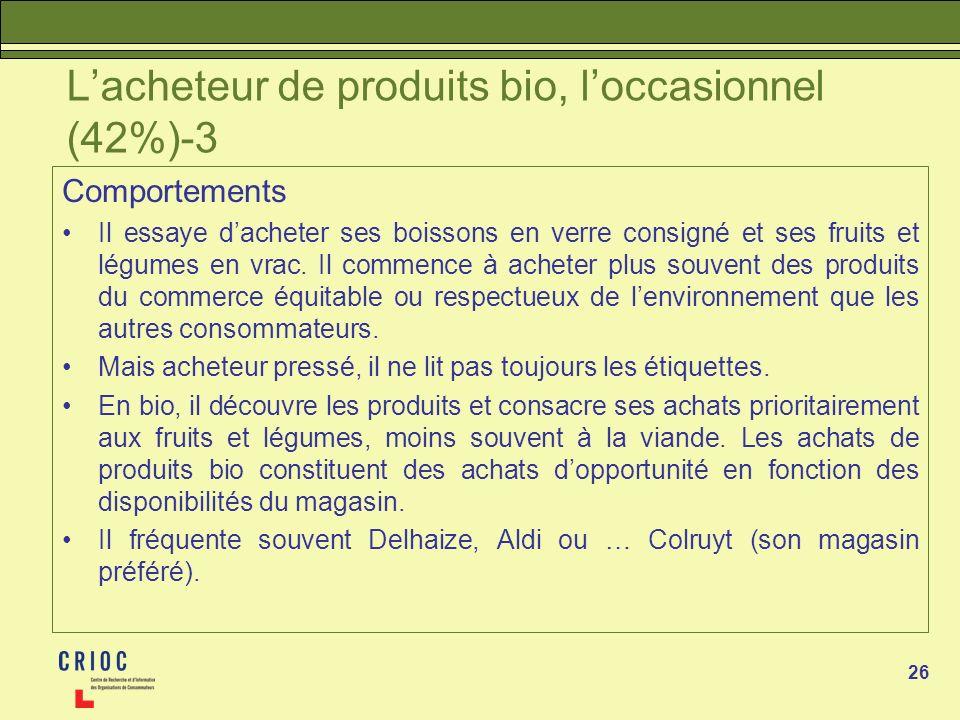 L'acheteur de produits bio, l'occasionnel (42%)-3