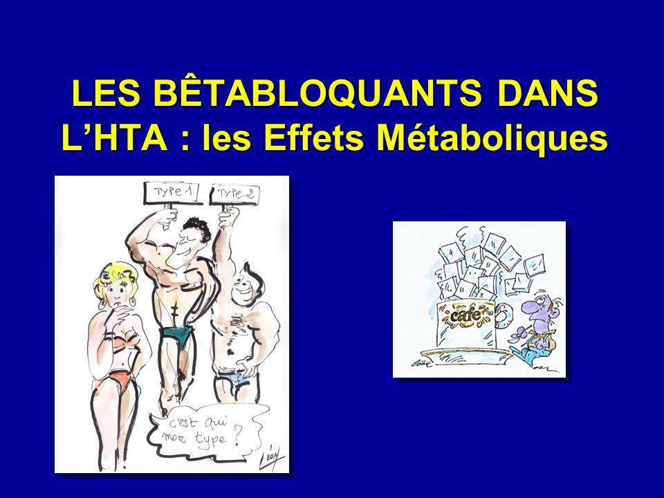 LES BÊTABLOQUANTS DANS L'HTA : les Effets Métaboliques
