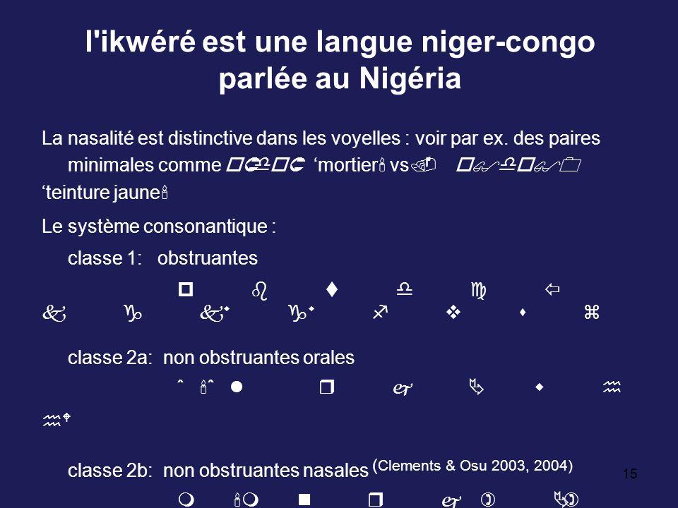 l ikwéré est une langue niger-congo parlée au Nigéria
