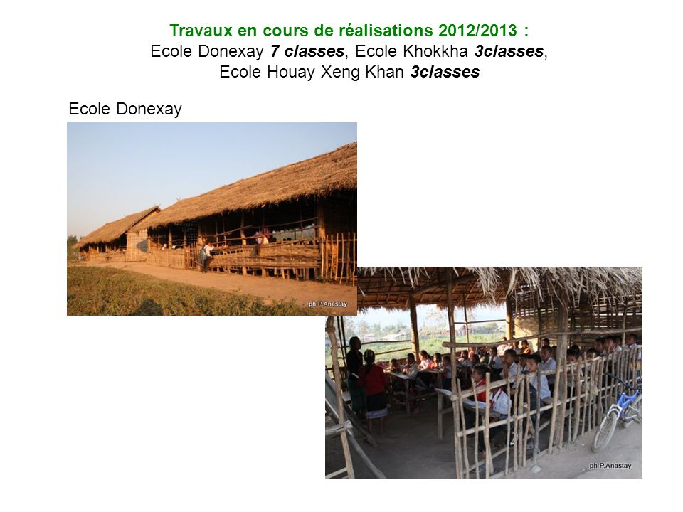 Travaux en cours de réalisations 2012/2013 :