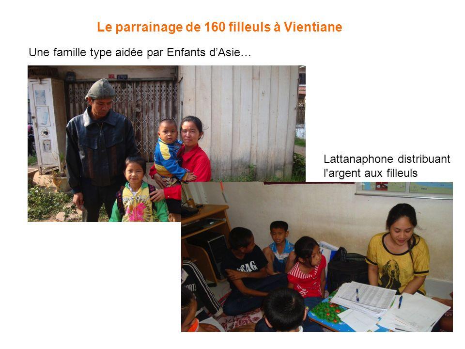 Le parrainage de 160 filleuls à Vientiane