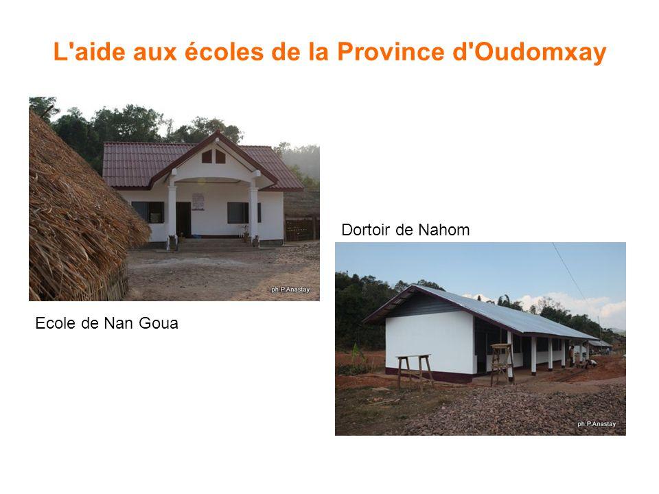 L aide aux écoles de la Province d Oudomxay