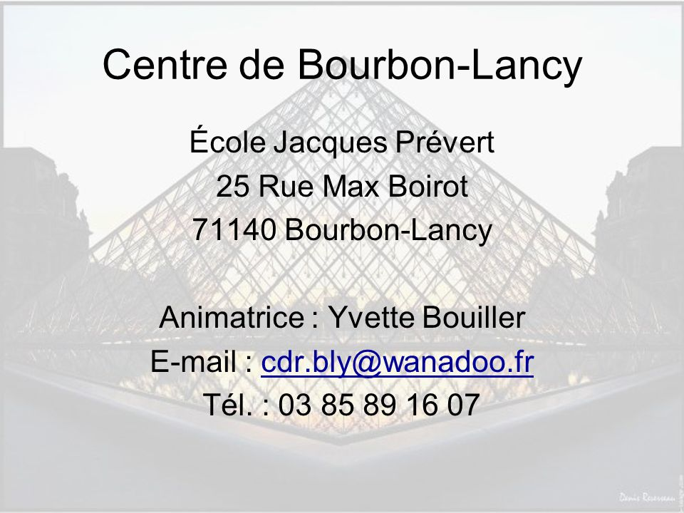Centre de Bourbon-Lancy