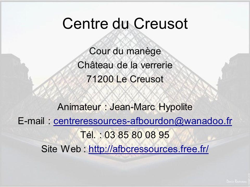 Centre du Creusot Cour du manège Château de la verrerie