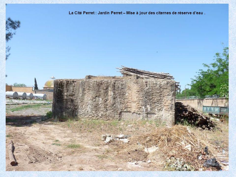 La Cité Perret : Jardin Perret – Mise à jour des citernes de réserve d'eau .