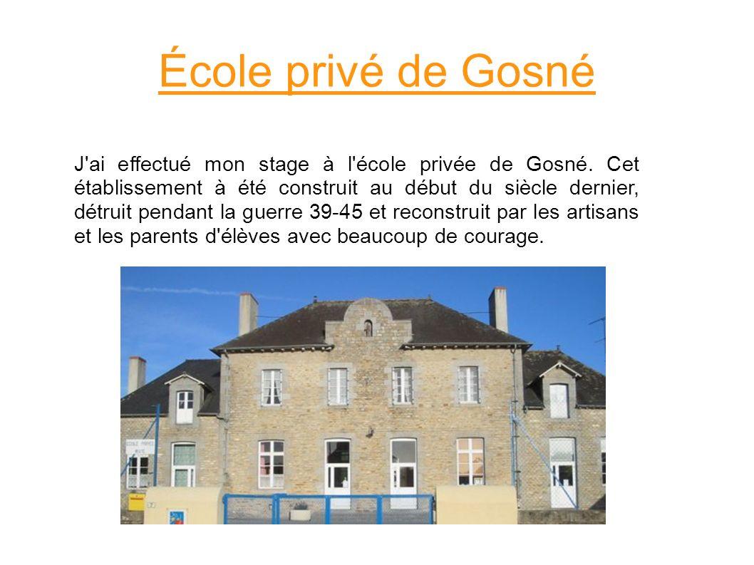 École privé de Gosné
