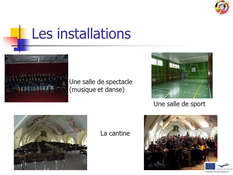 Les installations Une salle de spectacle (musique et danse)