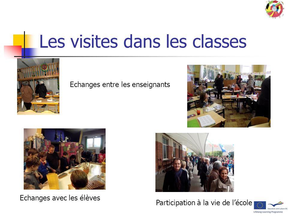 Les visites dans les classes