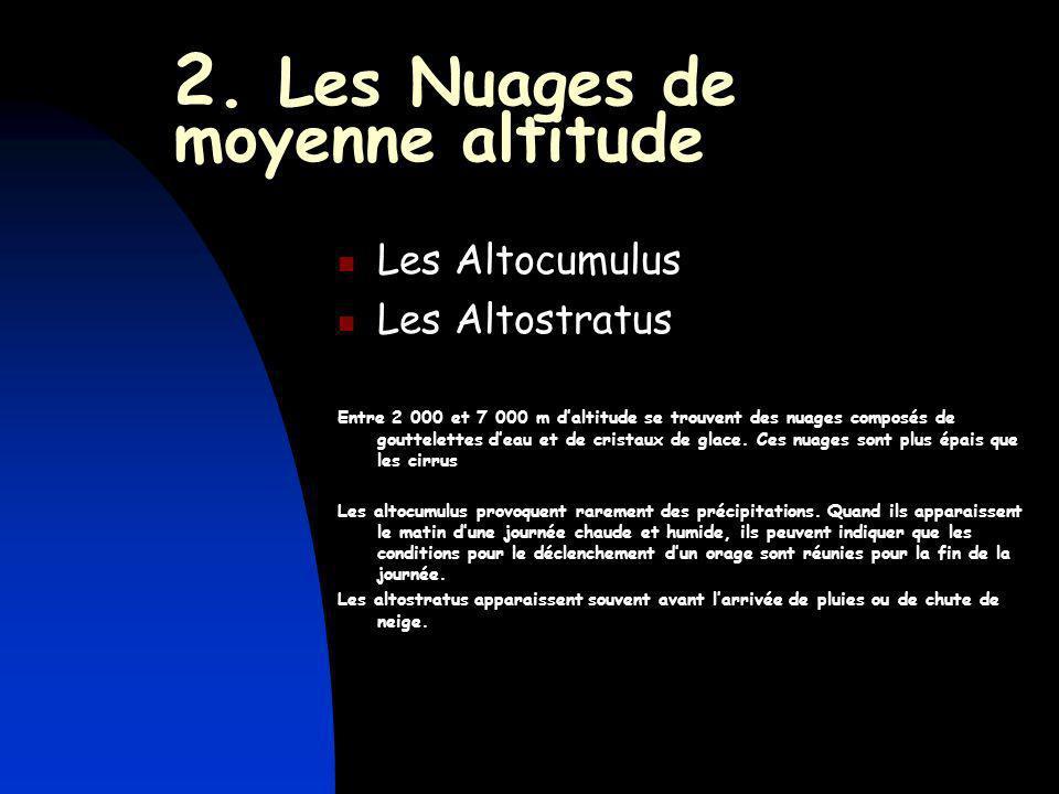 2. Les Nuages de moyenne altitude