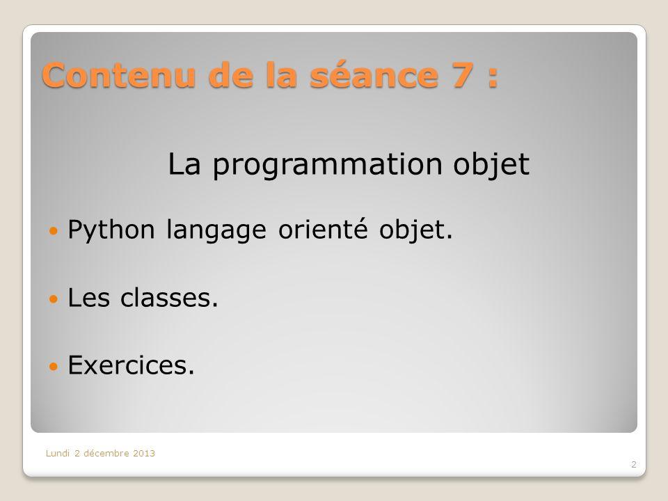 La programmation objet