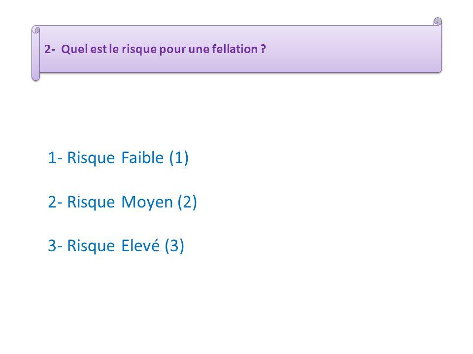 1- Risque Faible (1) 2- Risque Moyen (2) 3- Risque Elevé (3)