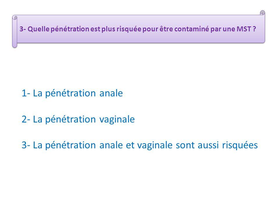 2- La pénétration vaginale