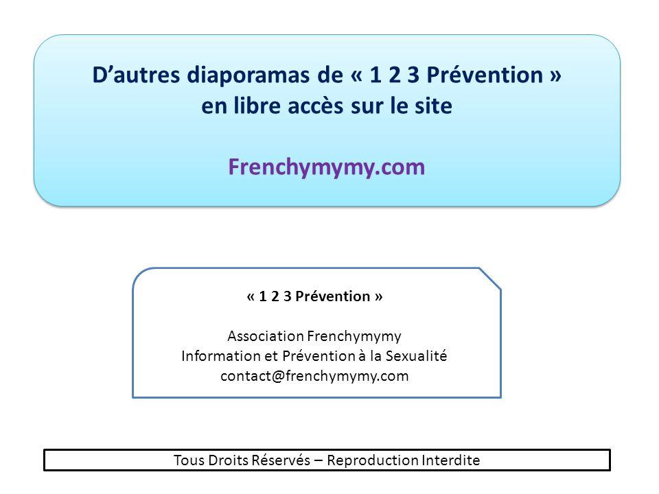 D'autres diaporamas de « 1 2 3 Prévention » en libre accès sur le site