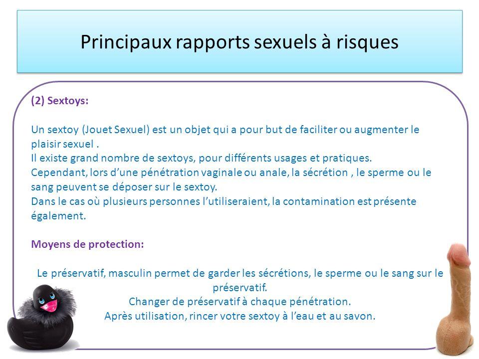 Principaux rapports sexuels à risques