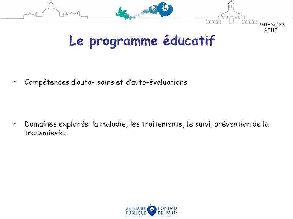 Le programme éducatif Compétences d'auto- soins et d'auto-évaluations