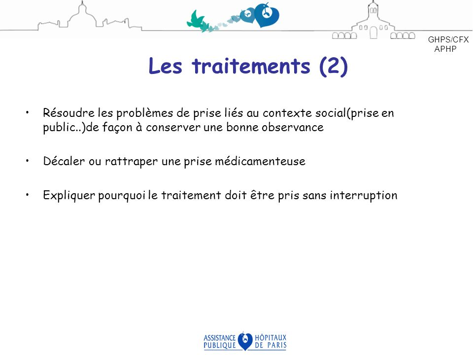 GHPS/CFX APHP Les traitements (2)