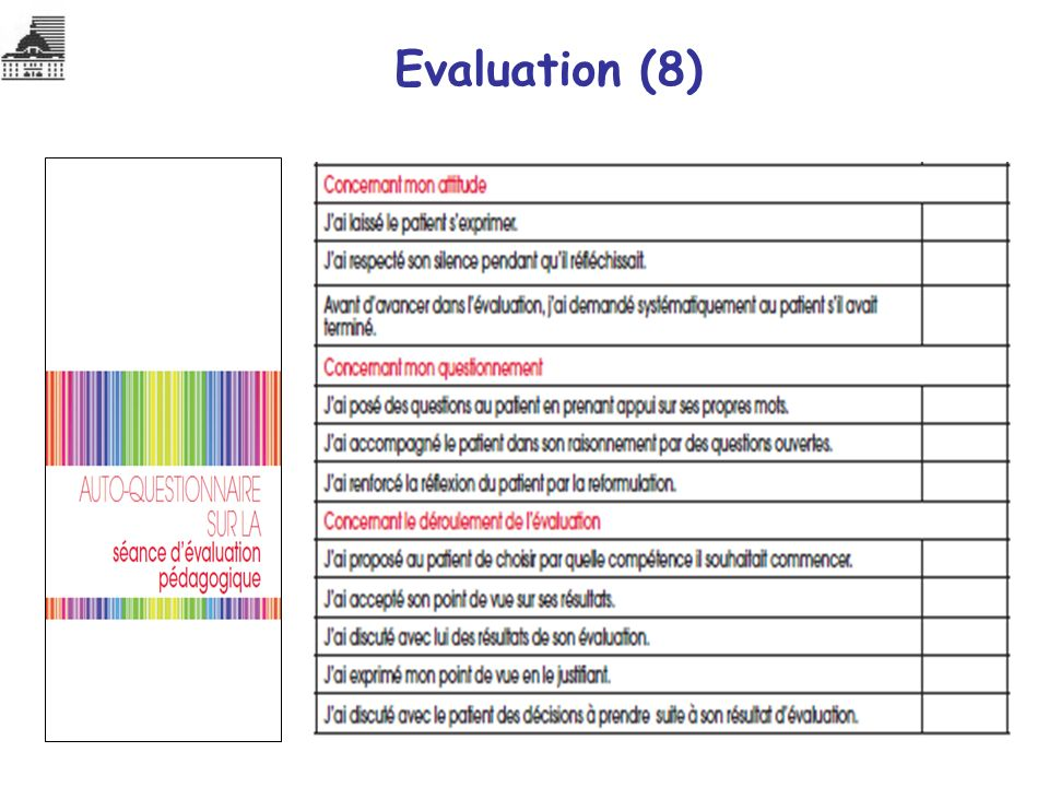 Evaluation (8)