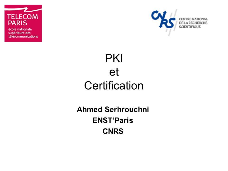 Ahmed Serhrouchni ENST'Paris CNRS