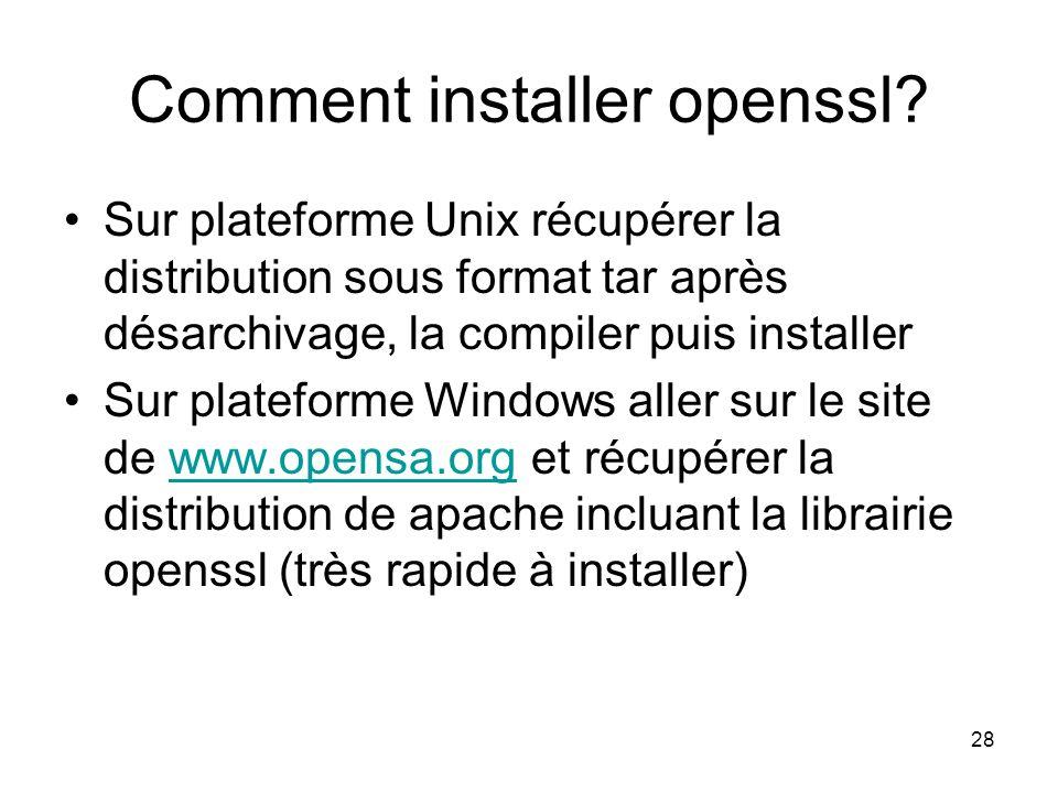 Comment installer openssl