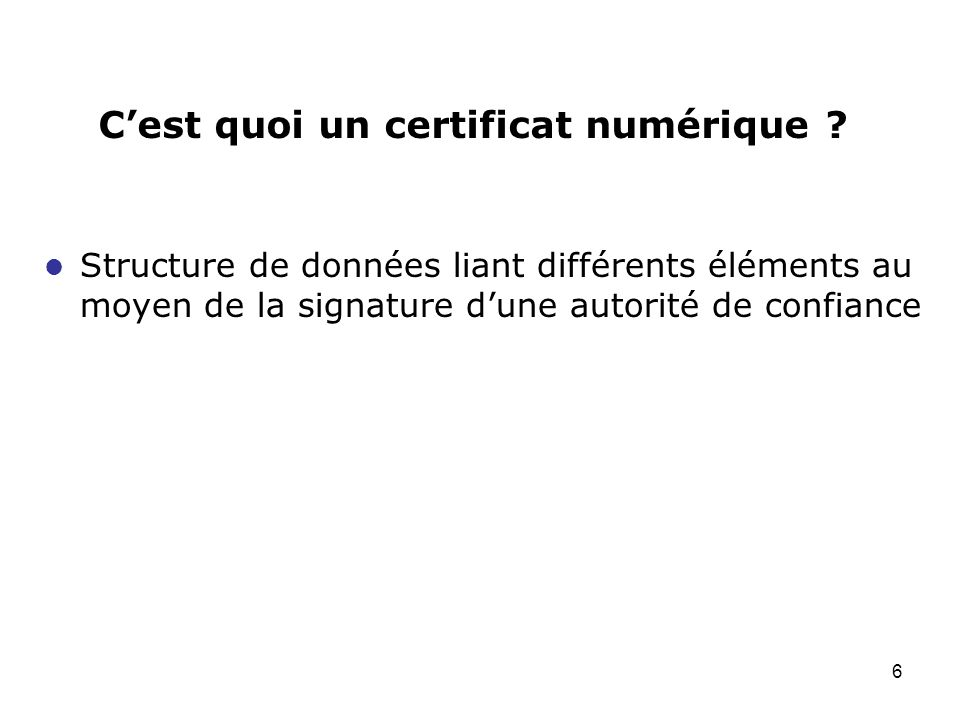 C'est quoi un certificat numérique