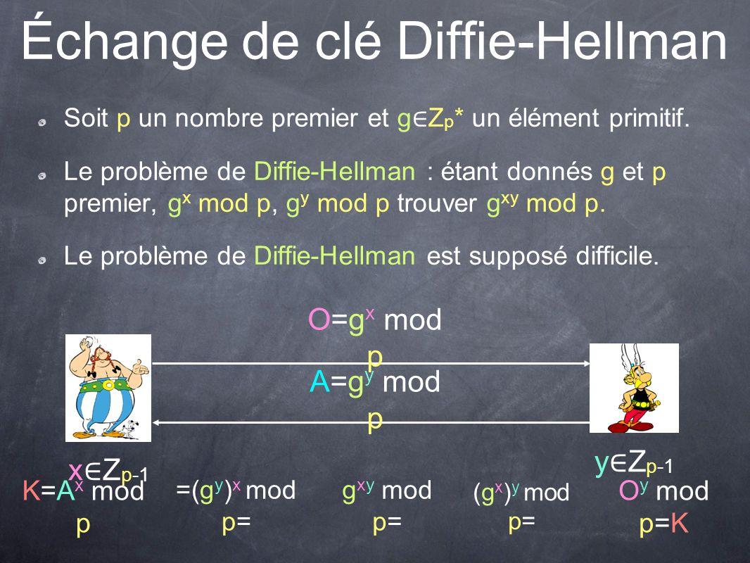 Échange de clé Diffie-Hellman