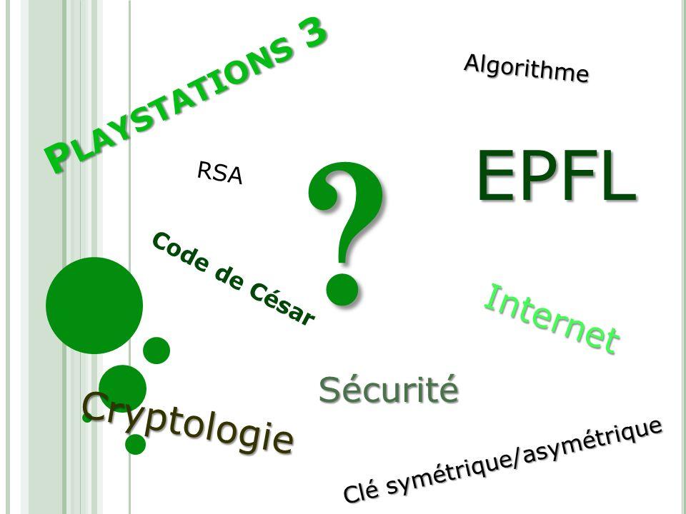 EPFL Playstations 3 Cryptologie Internet Sécurité Algorithme RSA