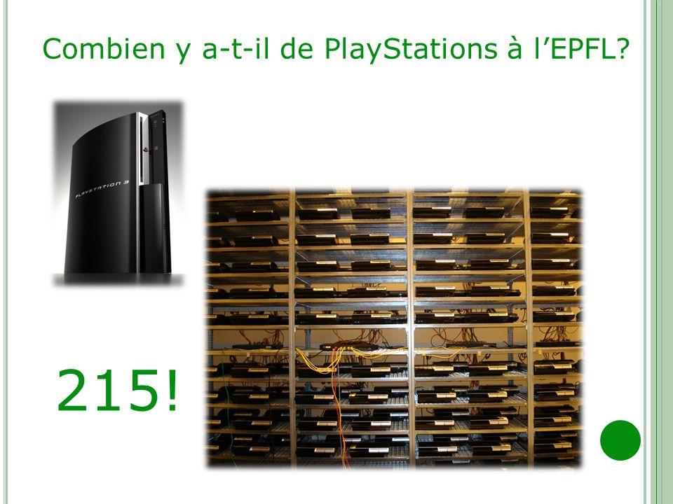 Combien y a-t-il de PlayStations à l'EPFL