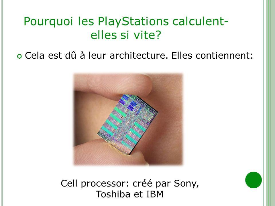 Pourquoi les PlayStations calculent-elles si vite