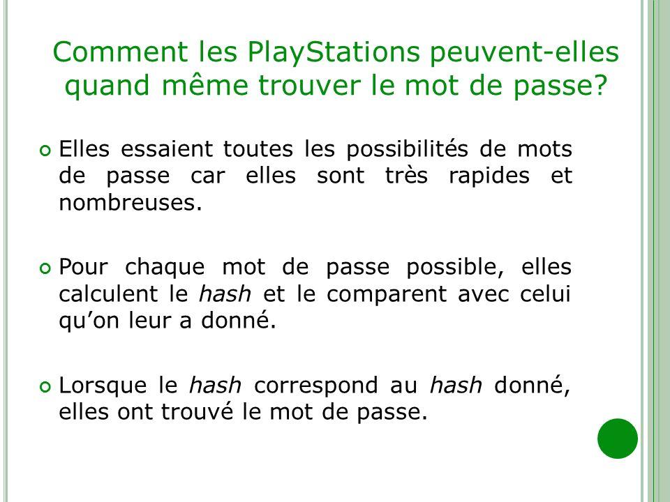 Comment les PlayStations peuvent-elles quand même trouver le mot de passe