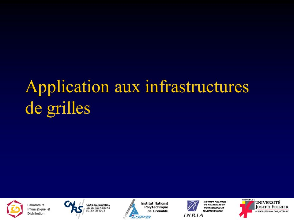 Application aux infrastructures de grilles