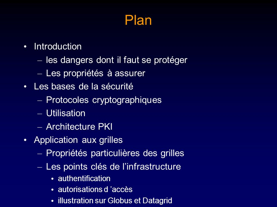 Plan Introduction les dangers dont il faut se protéger
