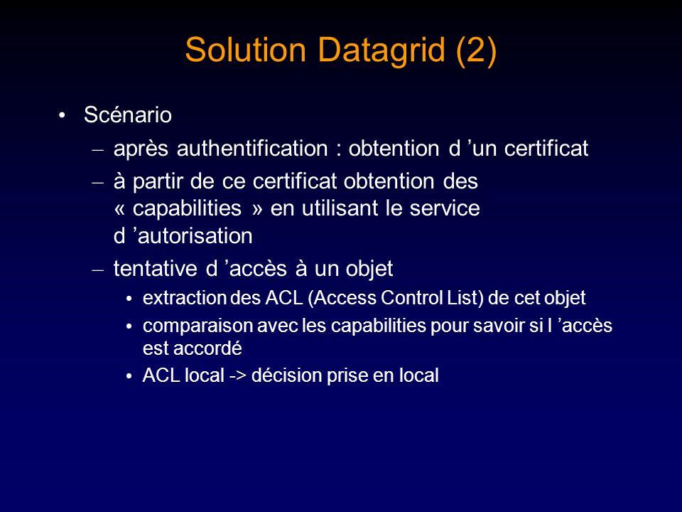 Solution Datagrid (2) Scénario