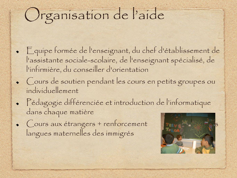 Organisation de l'aide