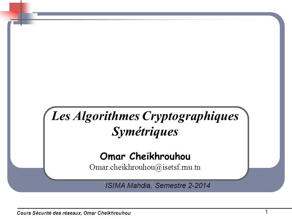 Les Algorithmes Cryptographiques Symétriques