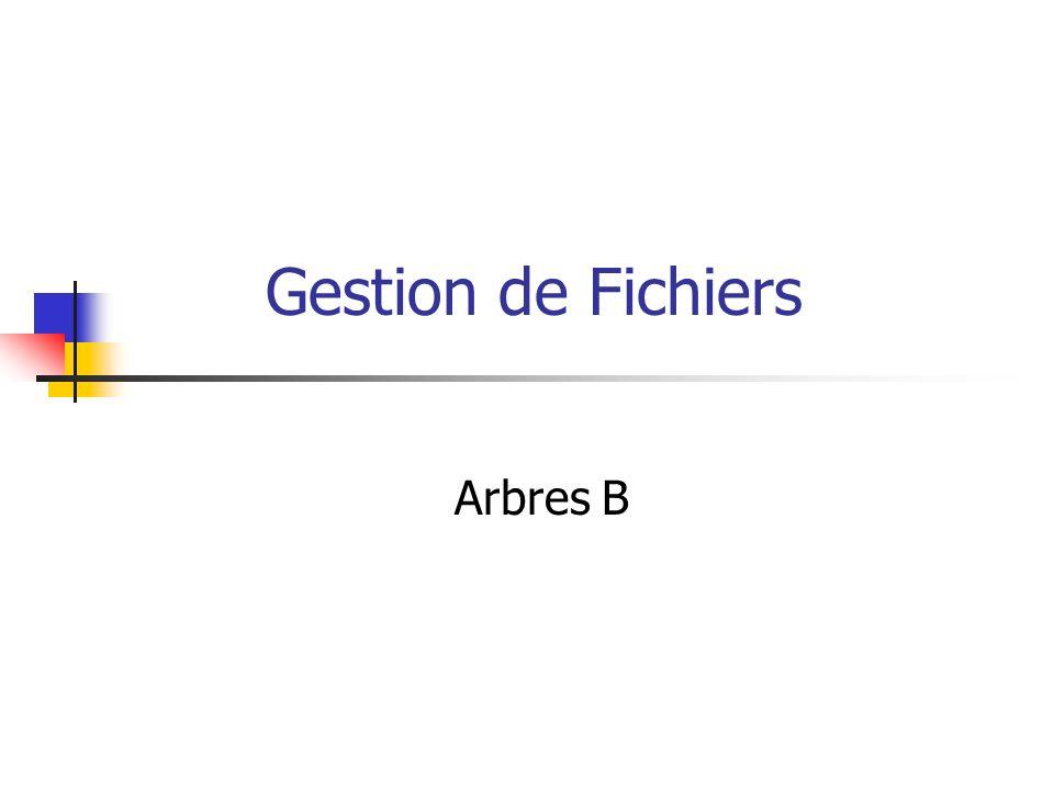 Gestion de Fichiers Arbres B
