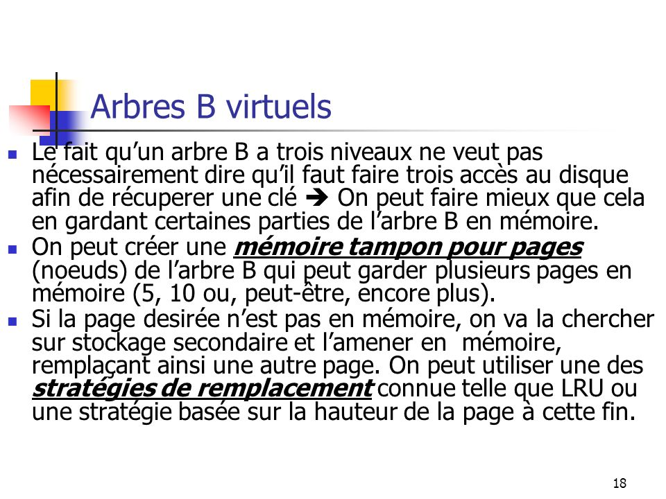 Arbres B virtuels