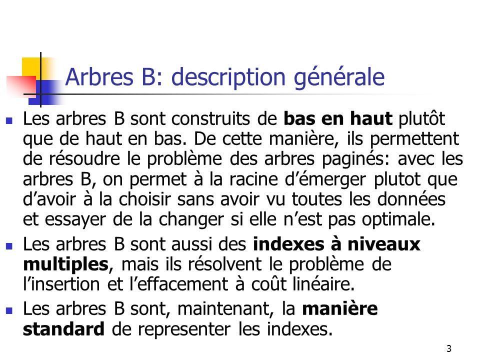Arbres B: description générale