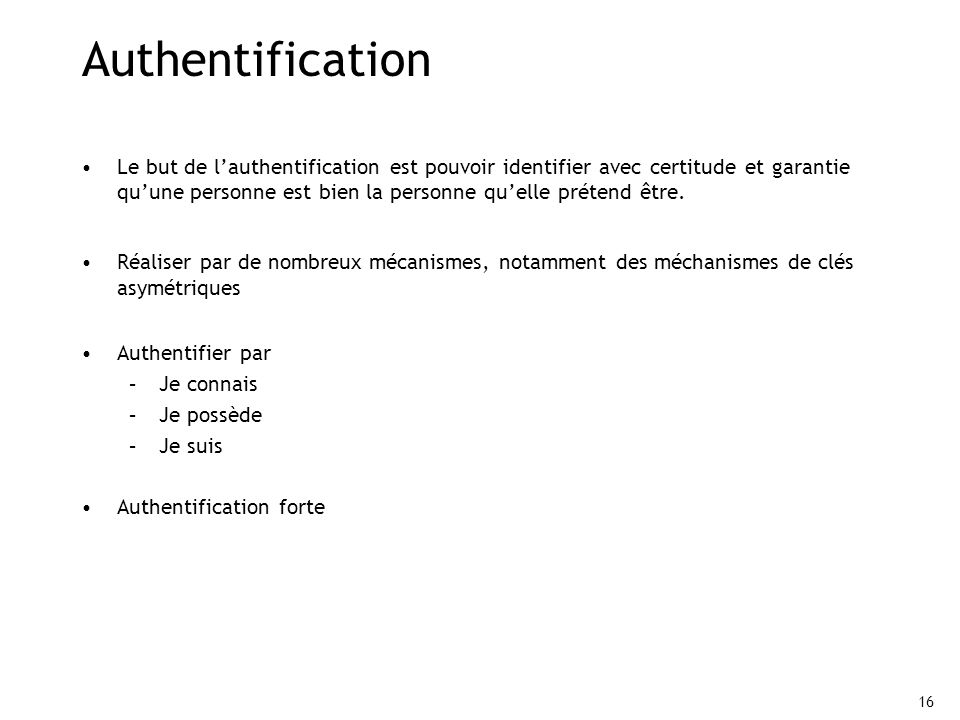Authentification