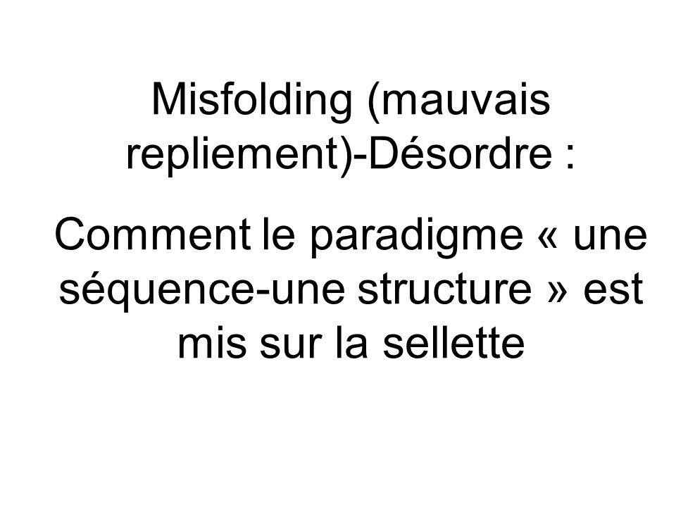 Misfolding (mauvais repliement)-Désordre :