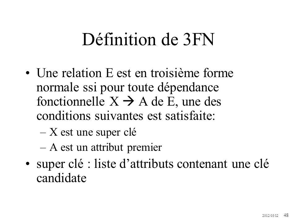 Définition de 3FN