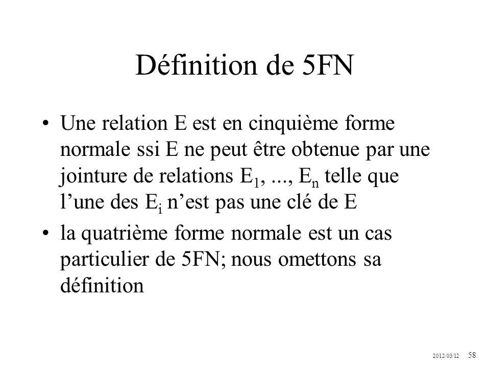 Définition de 5FN