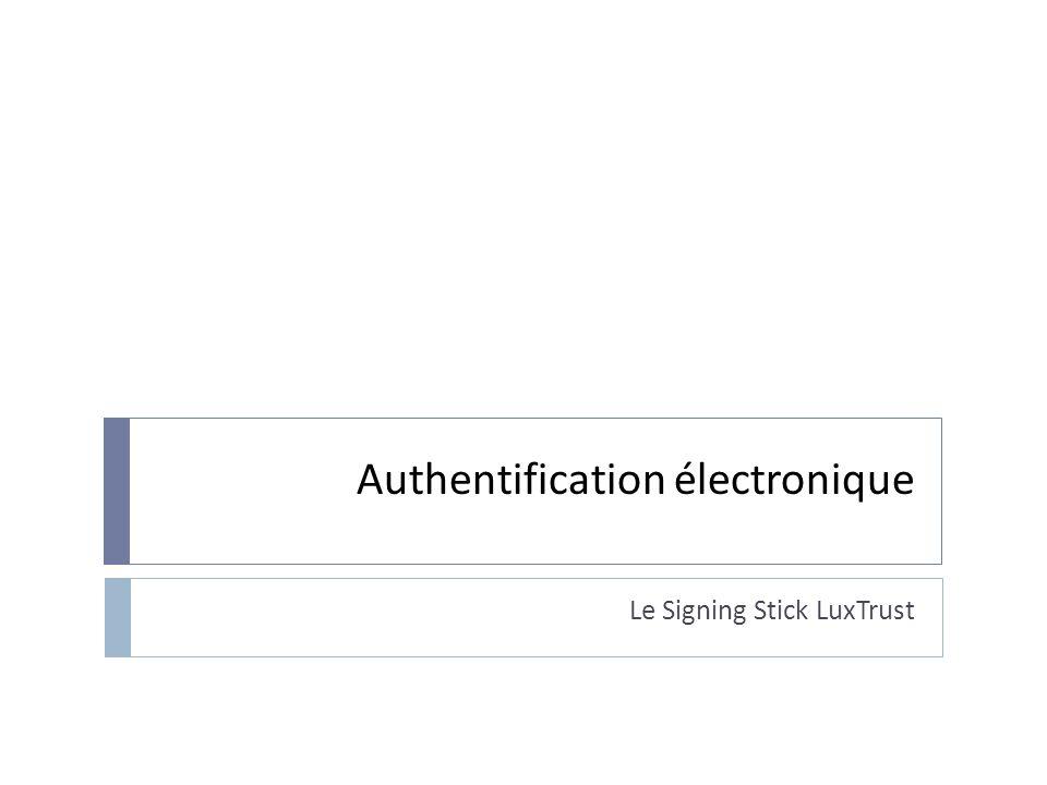 Authentification électronique