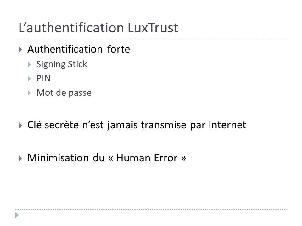 L'authentification LuxTrust