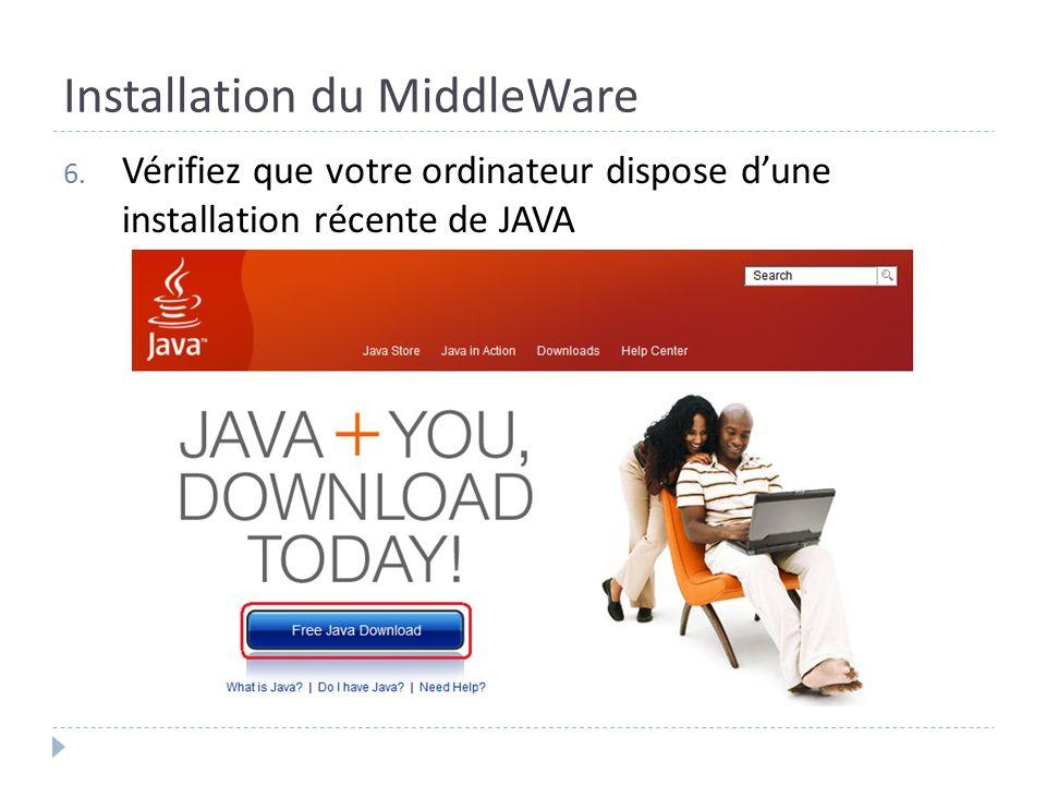 Installation du MiddleWare