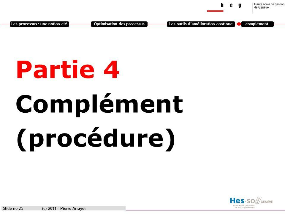 Partie 4 Complément (procédure)