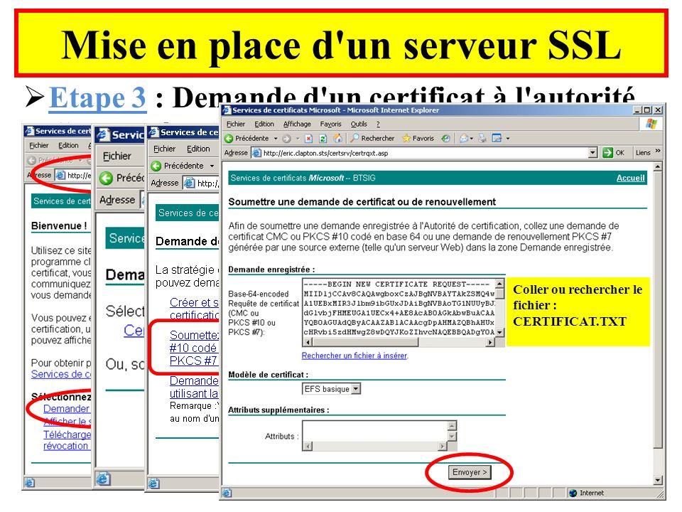 Mise en place d un serveur SSL